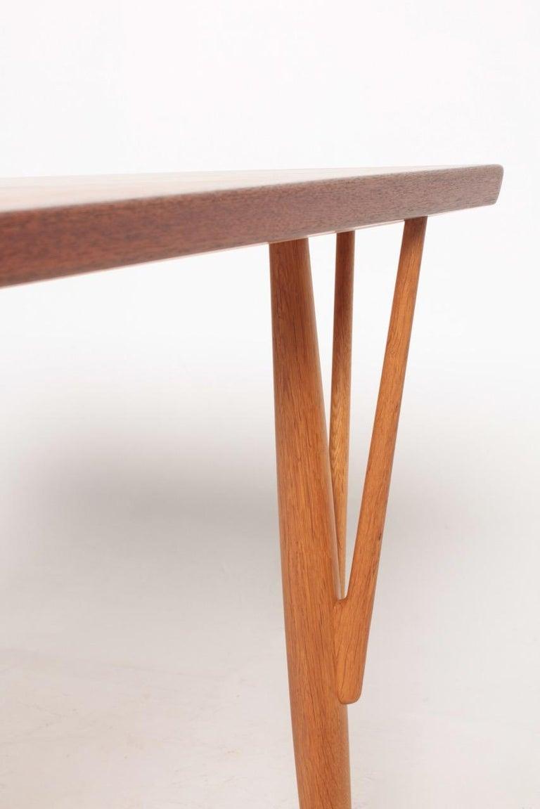 Rare Midcentury Work Table in Teak and Oak by Hans Wegner, 1950s 1
