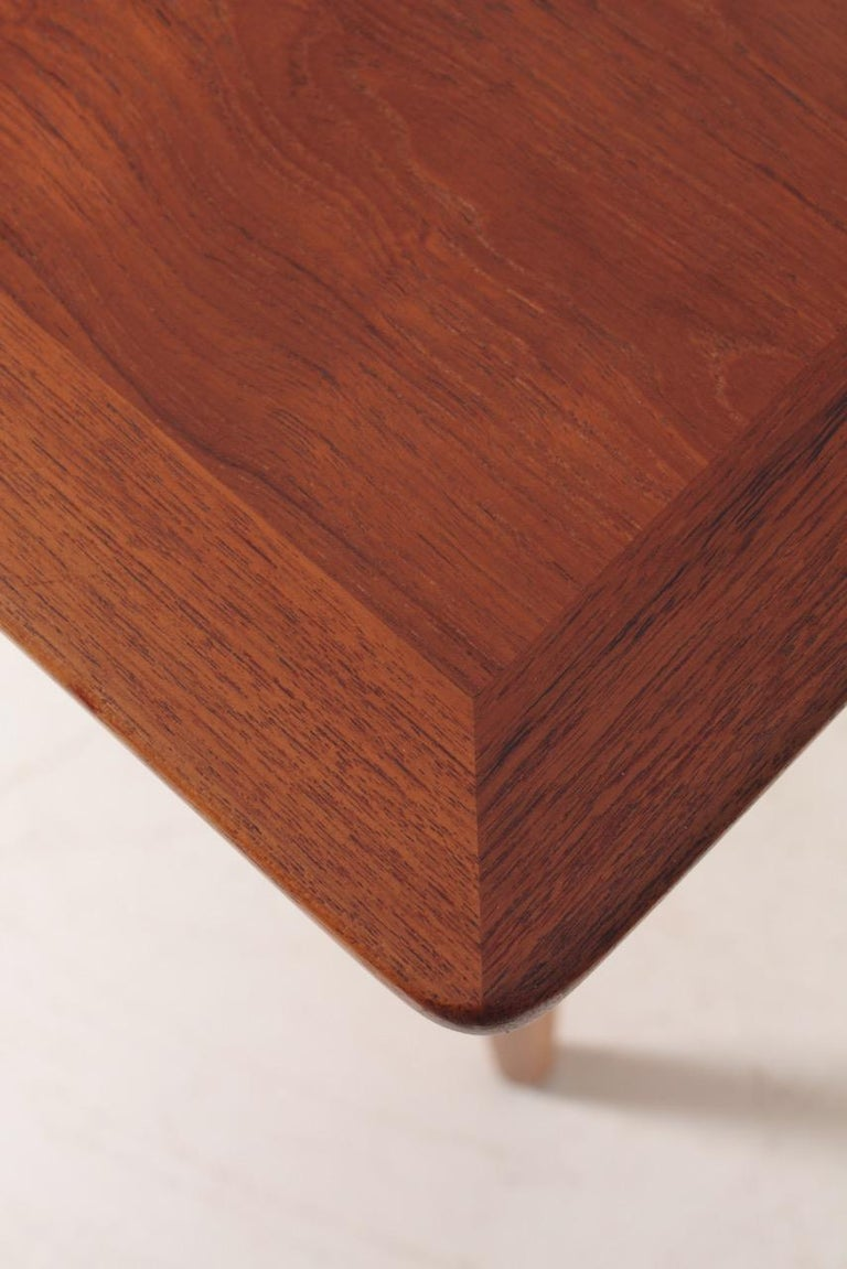 Rare Midcentury Work Table in Teak and Oak by Hans Wegner, 1950s 2