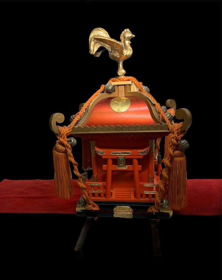 Rare Mikoshi Palanquin Citizen Clock For Sale 3