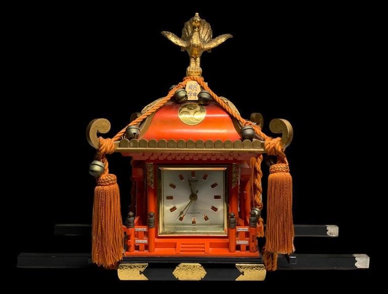Rare Mikoshi Palanquin Citizen Clock For Sale 4