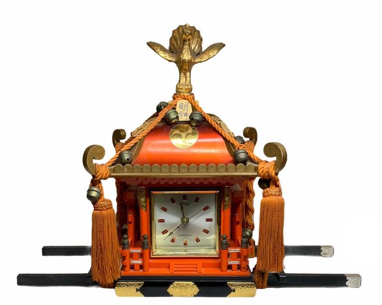 Rare Mikoshi Palanquin Citizen Clock For Sale 5
