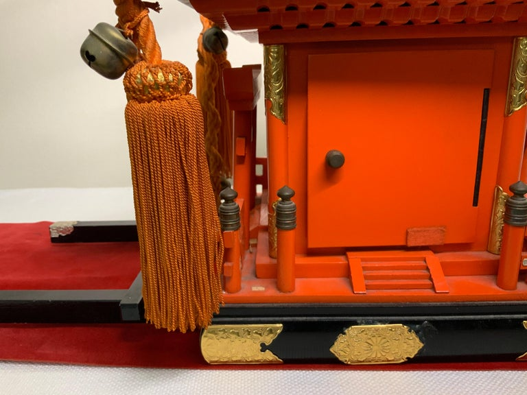 Anglo-Japanese Rare Mikoshi Palanquin Citizen Clock For Sale