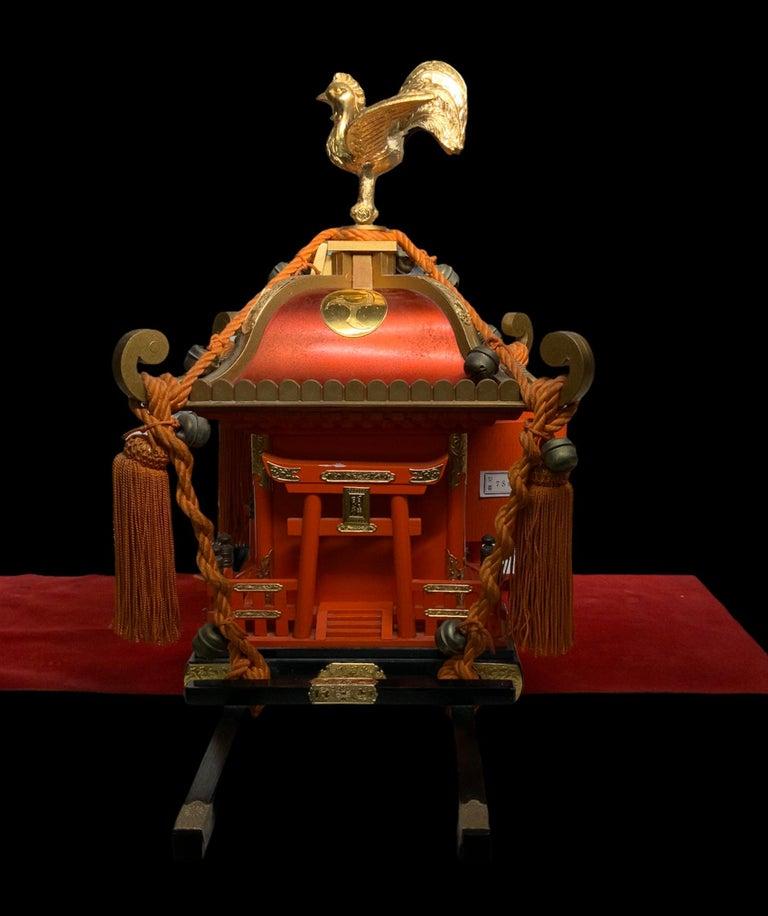 Rare Mikoshi Palanquin Citizen Clock In Good Condition For Sale In Guaynabo, PR