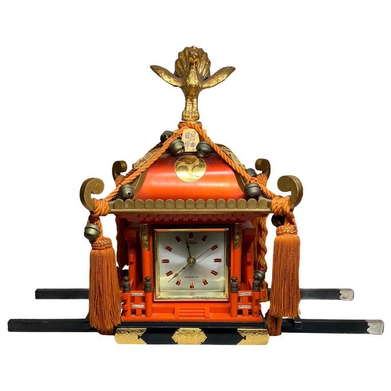 Rare Mikoshi Palanquin Citizen Clock For Sale