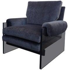 """Rare Milo Baughman Lucite Armchair, """"The Environment Collection"""""""
