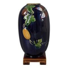 Rare Minton Majolica Flower Vase On Stand