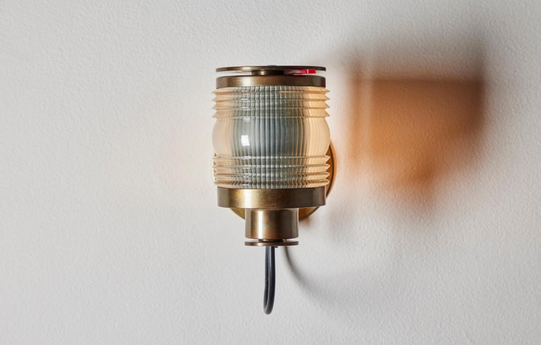 Mid-Century Modern Rare Model 1138 Sconce by Joe Colombo for Oluce  For Sale