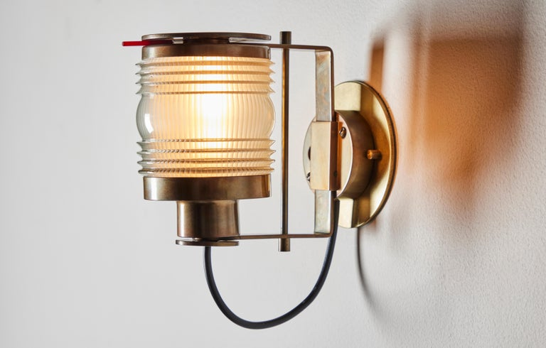 Rare Model 1138 Sconce by Joe Colombo for Oluce  In Good Condition For Sale In Los Angeles, CA