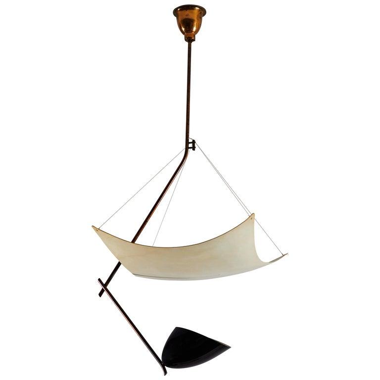 """Rare Model 12385 """"Vela"""" Ceiling Light by Angelo Lelli for Arredoluce For Sale"""