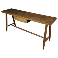 Rare Modern Console in Oak from France, 1960s