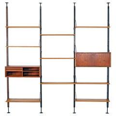 Rare, Modular Shelving System by Poul Cadovius for Cado, 1960s