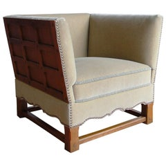 """Rare Mohair Chair from """"The Spanish Set"""" by Elias Barup"""