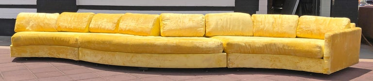 Rare Monumental Adrian Pearsall Serpentine Sofa In Good Condition For Sale In Las Vegas, NV