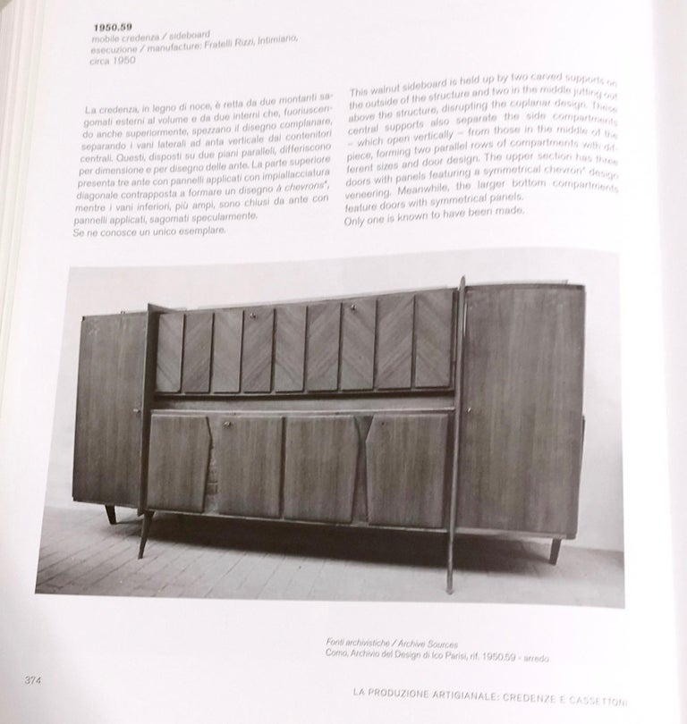 Rare Monumental Cabinet by Ico Parisi with Parchment Panels, 1950s For Sale 5