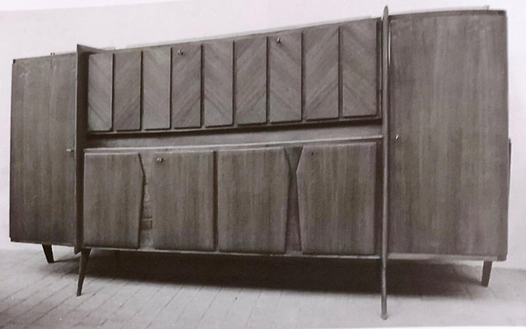 Rare Monumental Cabinet by Ico Parisi with Parchment Panels, 1950s For Sale 6