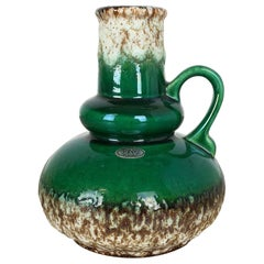 "Rare Multicolor Fat Lava ""402-21"" Pottery Vase by Jopeko, Germany, 1970s"