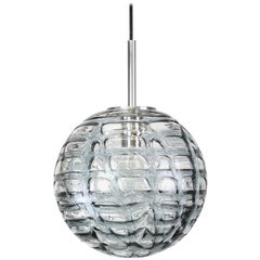 Rare Murano Ball Pendant Light by Doria, Germany, 1970s