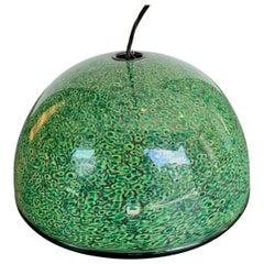 Rare Murano Green Murrine Glass Pendant Light by Gae Aulenti for Vistosi