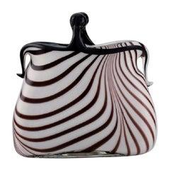 Rare Murano Handbag in Mouth Blown Art Glass, Italian Design, 1960s