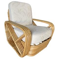 Rare Museum Quality Four-Strand Square Pretzel Lounge Chair by Paul Frankl