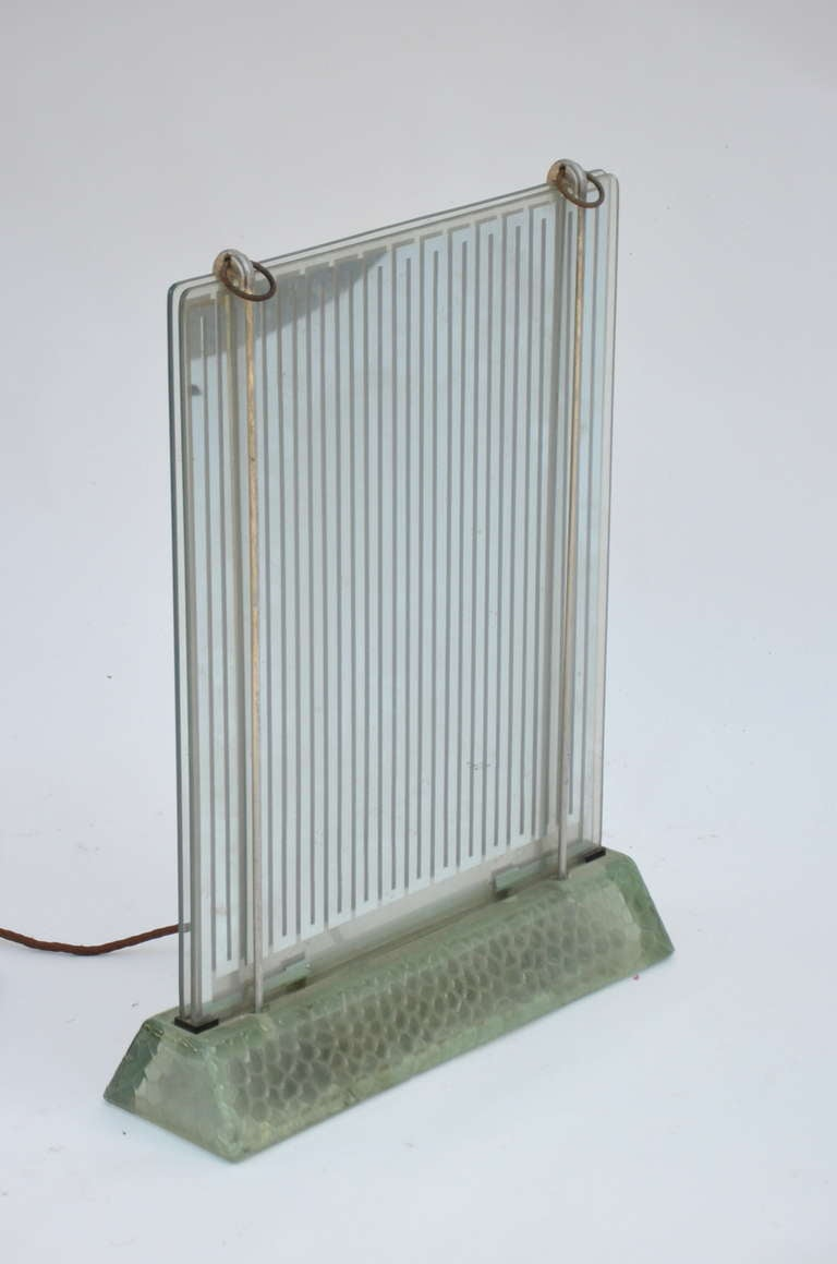 French Rare Museum-Quality Glass Radiator by René Coulon for Saint-Gobain For Sale