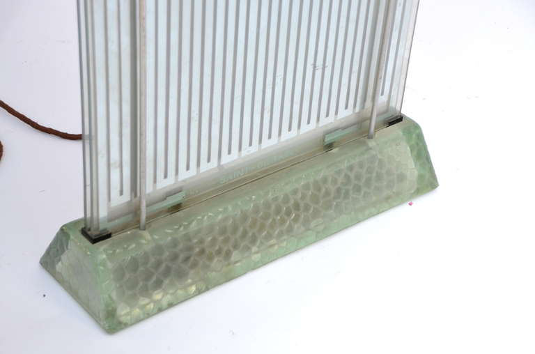 Rare Museum-Quality Glass Radiator by Rene Coulon for Saint-Gobain In Good Condition For Sale In Los Angeles, CA