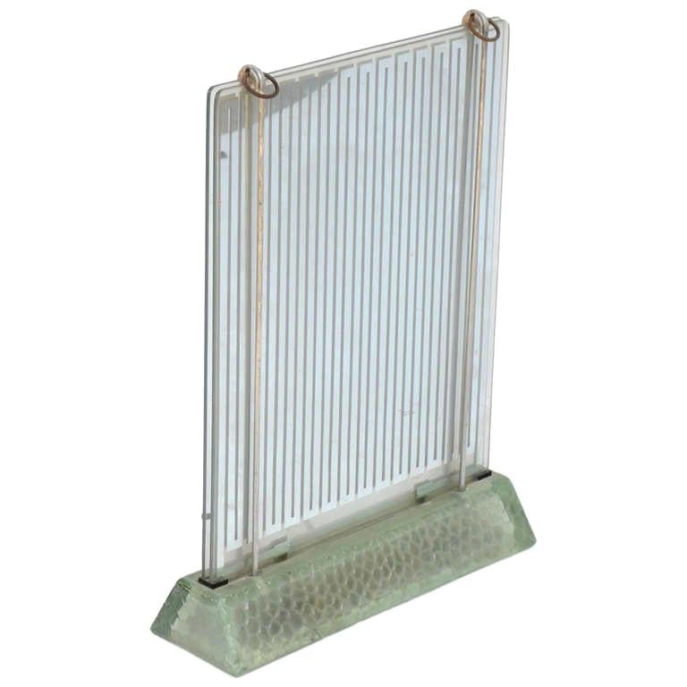 Rare Museum-Quality Glass Radiator by Rene Coulon for Saint-Gobain For Sale
