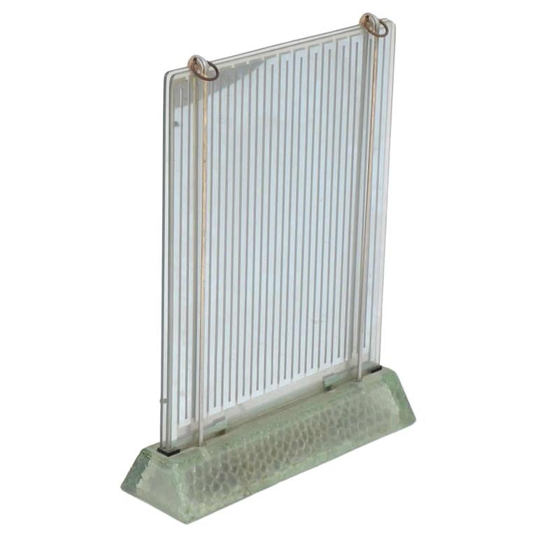 Rare Museum-Quality Glass Radiator by René Coulon for Saint-Gobain For Sale