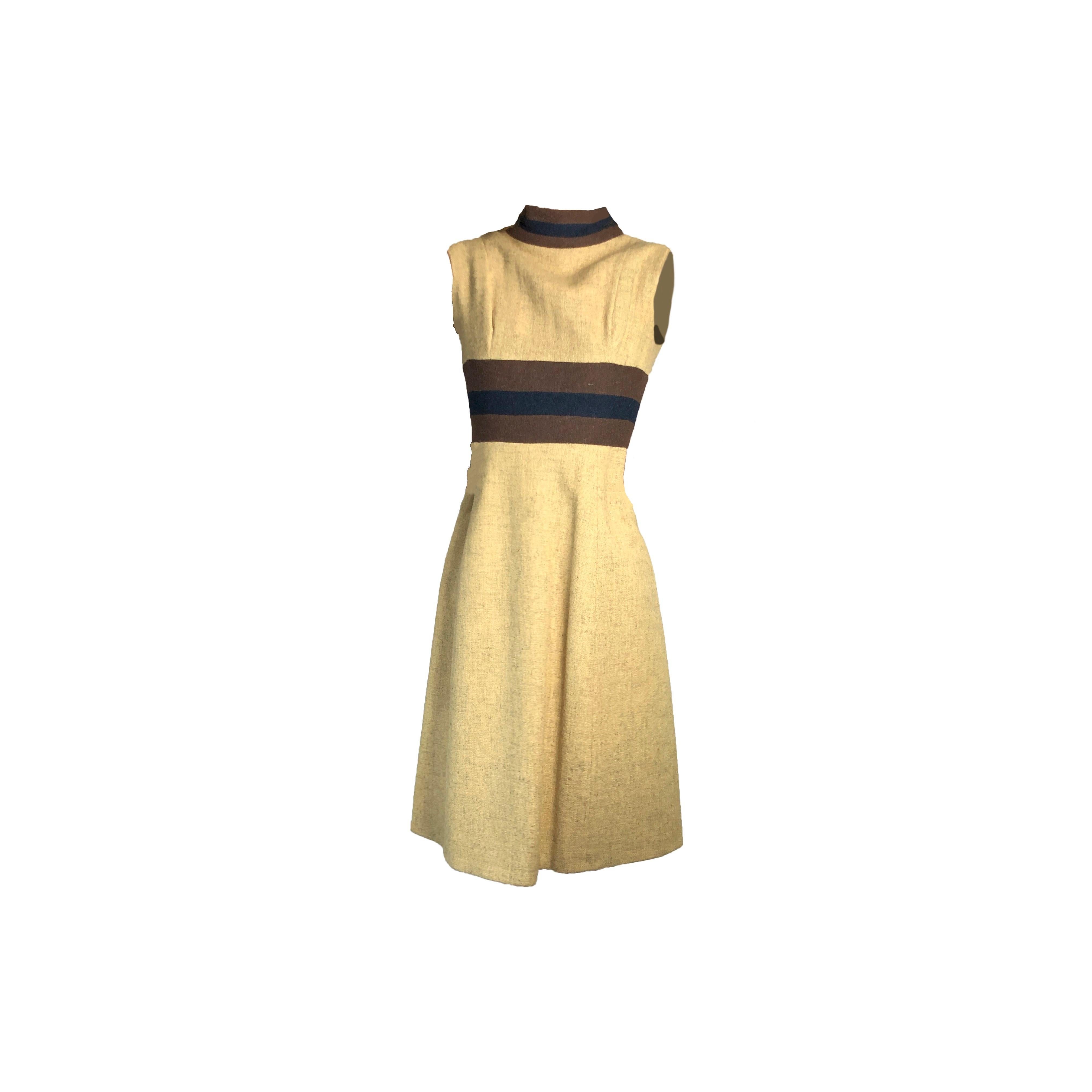 Rare Museum worthy Mary Quant wool dress, circa 1960s.
