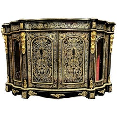 Rare Napoleon III Boulle Large Sideboard Credenza, France, 1870