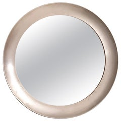 Rare Narciso Mirror with Steel Frame by Sergio Mazza for Artemide, Italy, 1950s