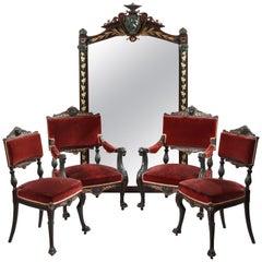 Rare Neo-Pompeian Salon Suite