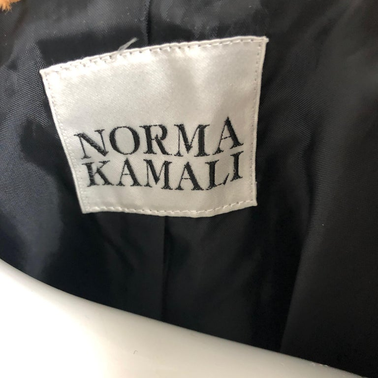 Rare Norma Kamali Cropped Leopard Jacket with Shawl Collar M Vintage  For Sale 7
