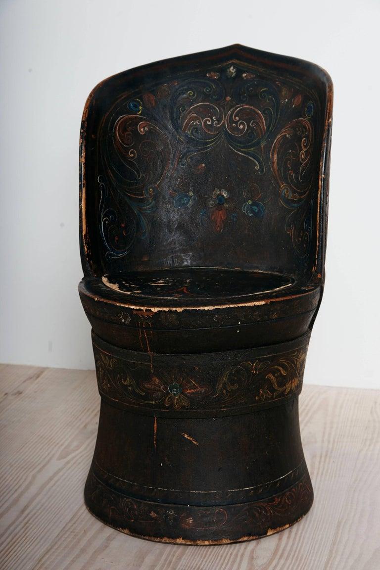 Rare Norwegian Kubbestol, circa 1850, Origin Telemark, Norway For Sale 4
