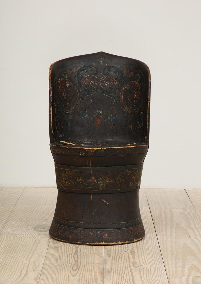 Rare Norwegian Kubbestol, circa 1850, Origin Telemark, Norway For Sale 5
