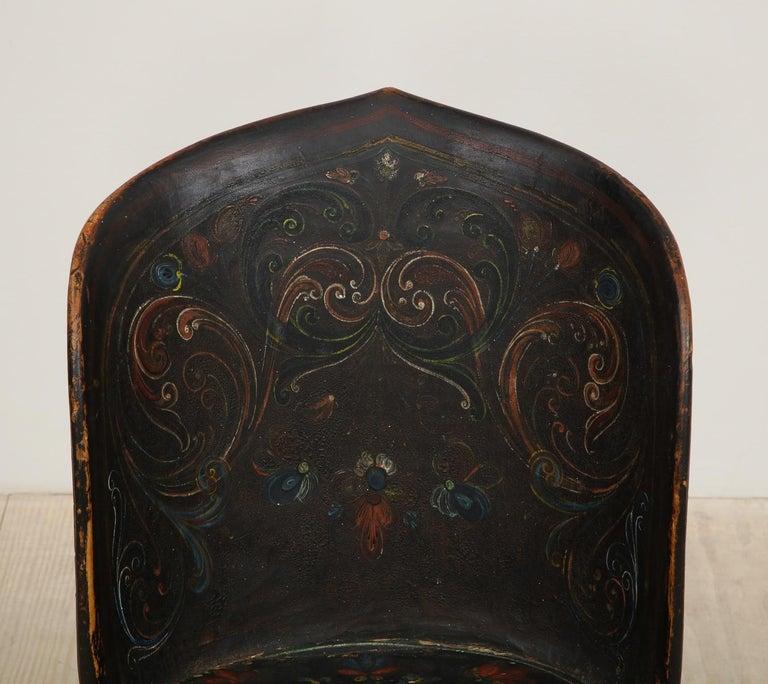 Rare Norwegian Kubbestol, circa 1850, Origin Telemark, Norway For Sale 8
