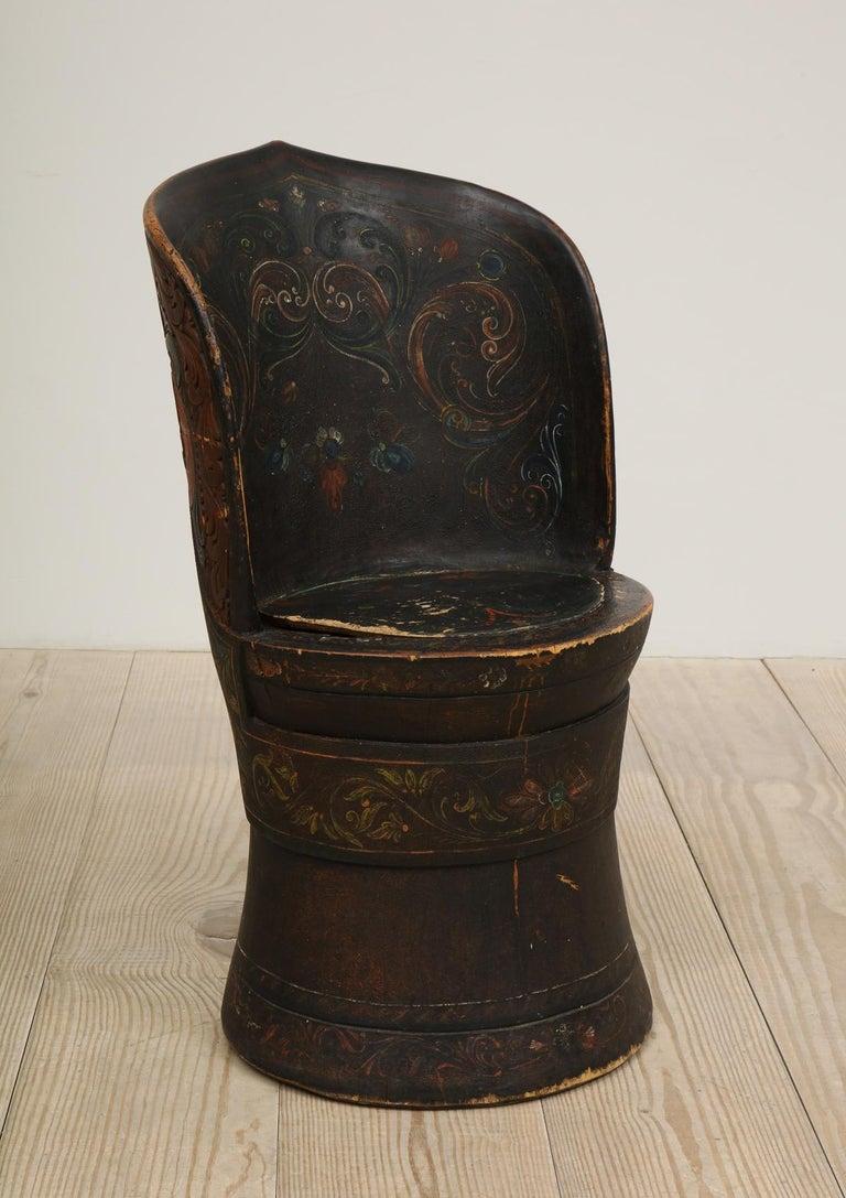 Rare Norwegian Kubbestol, circa 1850, Origin Telemark, Norway For Sale 9