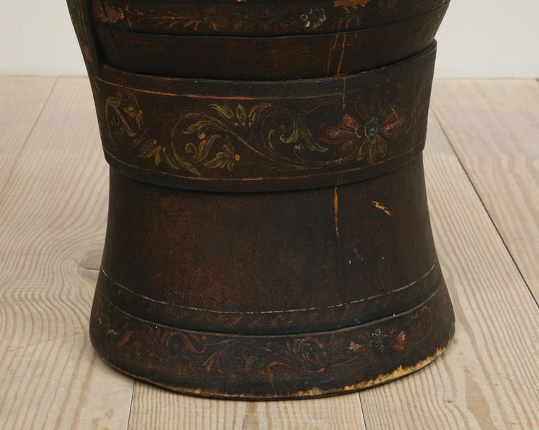 Rare Norwegian Kubbestol, circa 1850, Origin Telemark, Norway For Sale 11