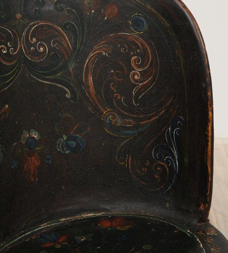 Rare Norwegian Kubbestol, circa 1850, Origin Telemark, Norway For Sale 12