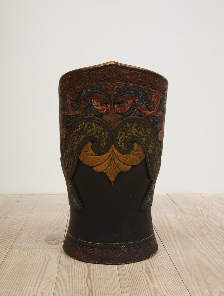 Rare Norwegian Kubbestol, circa 1850, Origin Telemark, Norway For Sale 1