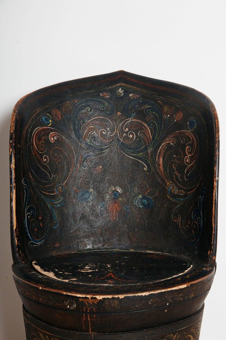 Rare Norwegian Kubbestol, circa 1850, Origin Telemark, Norway For Sale 2
