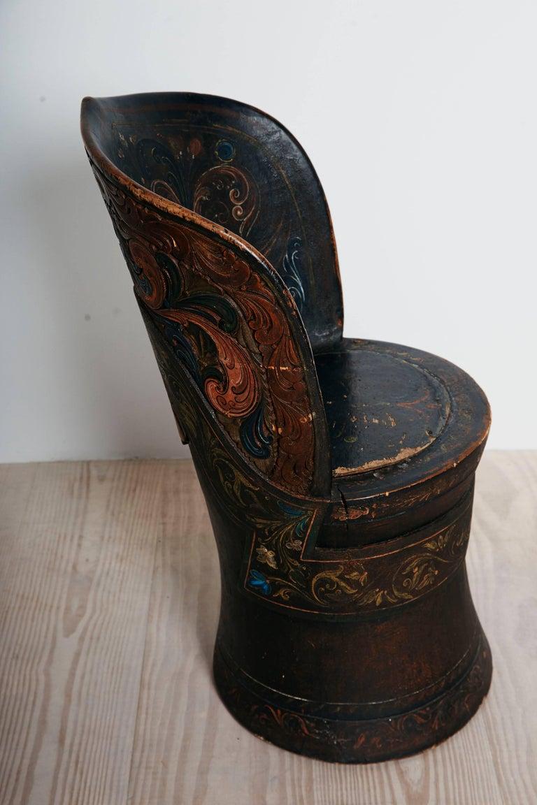 Rare Norwegian Kubbestol, circa 1850, Origin Telemark, Norway For Sale 3