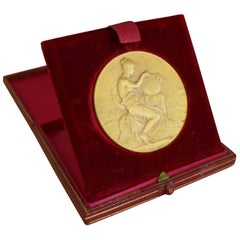 Rare Numismatic Touring Club de France Silver Medal by J.N.Deposé