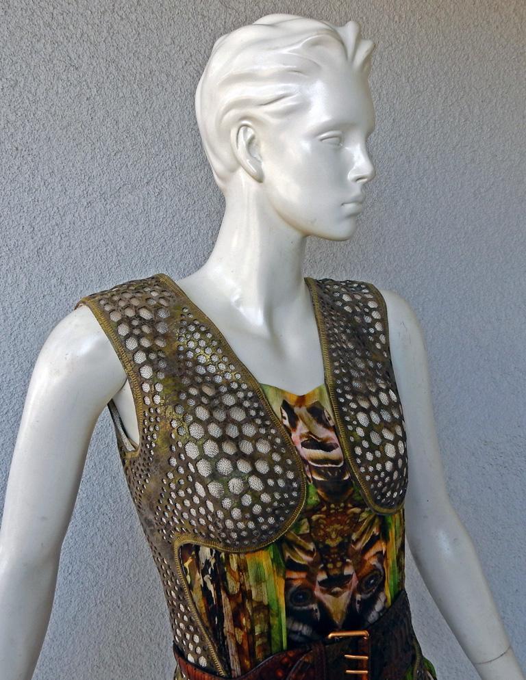 Rare! NWT Alexander McQueen 'Moth' dress, Plato's Atlantis 2010 For Sale 5