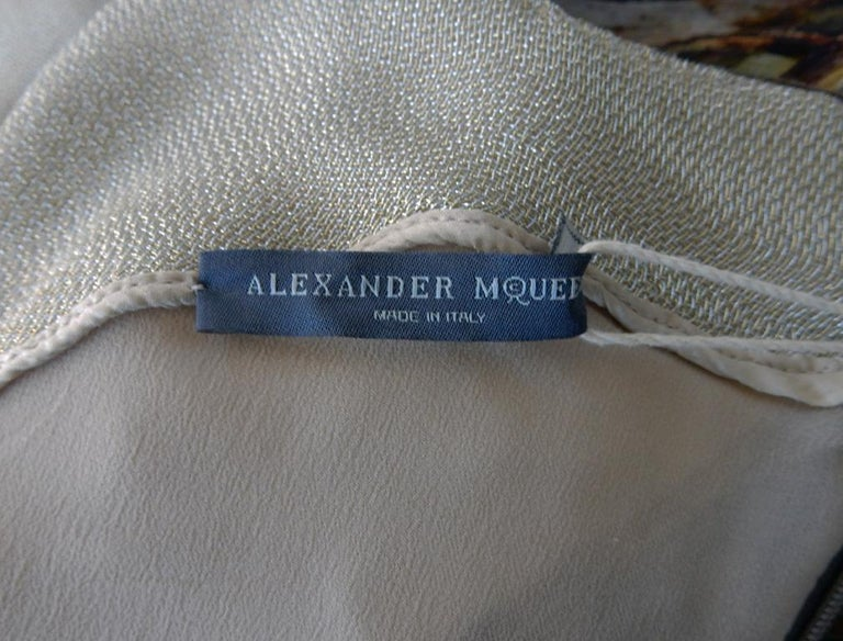 Rare! NWT Alexander McQueen 'Moth' dress, Plato's Atlantis 2010 For Sale 6