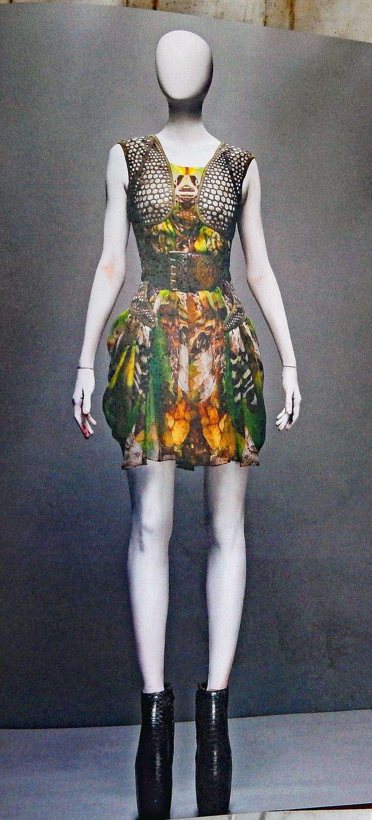 Rare! NWT Alexander McQueen 'Moth' dress, Plato's Atlantis 2010 For Sale 7
