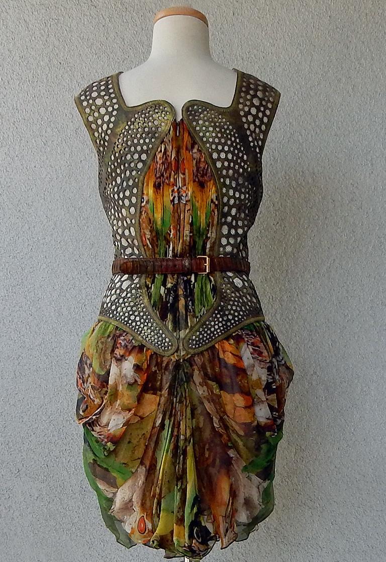 Rare! NWT Alexander McQueen 'Moth' dress, Plato's Atlantis 2010 For Sale 1