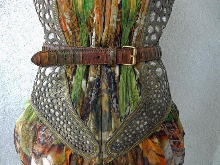 Rare! NWT Alexander McQueen 'Moth' dress, Plato's Atlantis 2010 For Sale 2