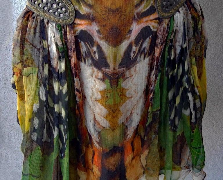 Rare! NWT Alexander McQueen 'Moth' dress, Plato's Atlantis 2010 For Sale 4