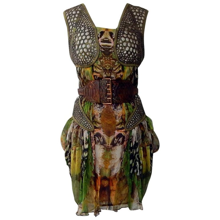 Rare! NWT Alexander McQueen 'Moth' dress, Plato's Atlantis 2010 For Sale